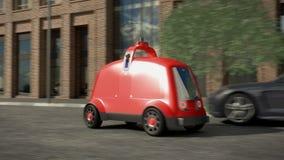 Concetto di delivery system automatico 3d rendono royalty illustrazione gratis
