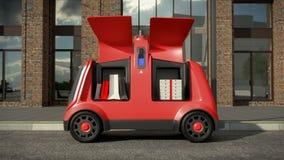 Concetto di delivery system automatico 3d rendono illustrazione vettoriale