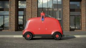 Concetto di delivery system automatico renderin 3D illustrazione di stock