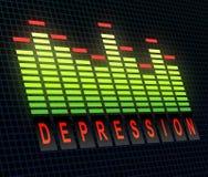 Concetto di depressione Fotografia Stock