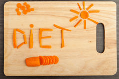 Concetto di dieta. alimento di disegno. Immagine Stock Libera da Diritti