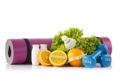 Concetto di dieta e di forma fisica Immagine Stock