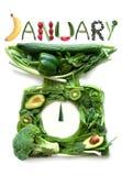 Concetto di dieta di gennaio fotografia stock libera da diritti