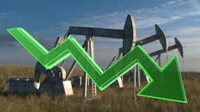 Concetto di diminuzione dell'olio Immagine Stock