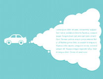 Concetto di direzione della nuvola dell'automobile Fotografia Stock Libera da Diritti