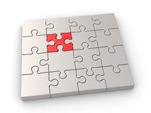 Concetto di direzione di puzzle Fotografie Stock Libere da Diritti