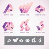 Concetto di direzione obliqua di progettazione di simbolo e di logo Fotografie Stock