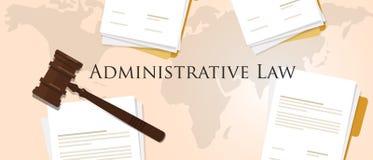 Concetto di diritto amministrativo del documento cartaceo di legislazione di processo di giudizio del martelletto del martello de Fotografie Stock Libere da Diritti