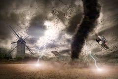 Concetto di disastro di tornado Immagini Stock Libere da Diritti