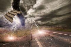 Concetto di disastro di tornado illustrazione vettoriale