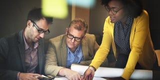 Concetto di discussione di Design Project Meeting dell'architetto fotografie stock libere da diritti