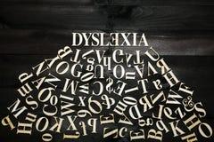 Concetto di dislessia Fotografie Stock