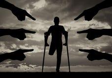 Concetto di distinzione di inabilità, problemi sociali immagini stock libere da diritti