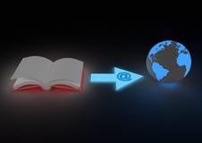 Concetto di distribuzione di Ebook Fotografia Stock Libera da Diritti