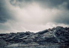 Concetto di distruzione Fotografia Stock