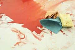 Concetto di divertimento del gioco del bambino di istruzione di colore di acqua di arte immagine stock