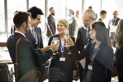 Concetto di divertimento di lavoro di squadra della rete di riunione di cooperazione immagine stock