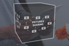 Concetto di divisione delle immagini fotografia stock libera da diritti