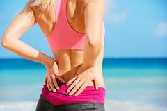 Concetto di dolore alla schiena Fotografia Stock