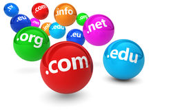 Concetto di Domain Name di Internet Fotografia Stock