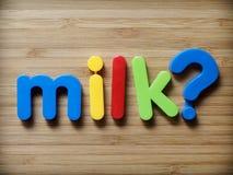 Concetto di domanda del latte Fotografia Stock