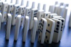 Concetto di domino Fotografia Stock