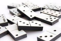 Concetto di domino su bianco Fotografie Stock