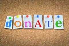 Concetto di donazione Immagine Stock Libera da Diritti