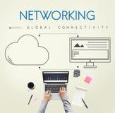 Concetto di download di stoccaggio di sostegno della nuvola della rete immagine stock