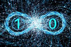 Concetto di dualità di fisica di quantum di un fotone fotografie stock libere da diritti