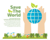 Concetto di ecologia Immagine Stock Libera da Diritti