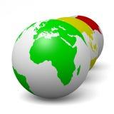 Concetto di ecologia di verde di serie del globo Fotografie Stock