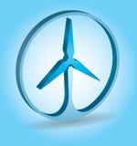Concetto di ecologia - energia di vento Fotografia Stock Libera da Diritti