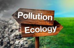 Concetto di ecologia o di inquinamento fotografia stock libera da diritti
