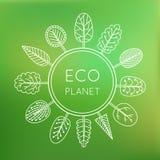 Concetto di ecologia, pianeta di eco Fotografia Stock Libera da Diritti