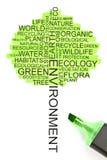 Concetto di ecologia sotto forma di un albero immagini stock libere da diritti
