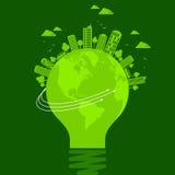 Concetto di ecologia - terra di risparmi, illustrazione Immagini Stock