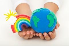 Concetto di ecologia - una terra pulita immagini stock libere da diritti