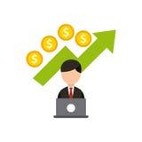 concetto di economia dei fondi di crescita illustrazione di stock