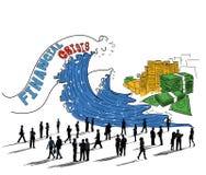 Concetto di economia dei soldi di investimento di crisi finanziaria Fotografia Stock Libera da Diritti