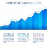 Concetto di economia del grafico di crescita illustrazione di stock