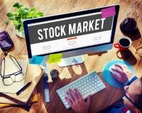 Concetto di economia di investimento finanziario di scambio del mercato azionario Fotografie Stock