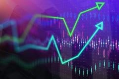 Concetto di economia e di finanza fotografie stock
