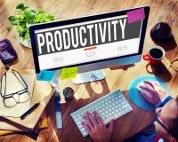 Concetto di efficienza di capacità di produzione di produttività Fotografie Stock Libere da Diritti