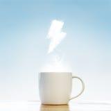 Concetto di energia della tazza di caffè fotografie stock libere da diritti