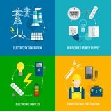 Concetto di energia di elettricità Fotografia Stock Libera da Diritti