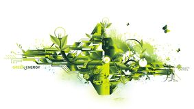 Concetto di energia e dell'ambiente Immagini Stock