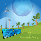 Concetto di energia rinnovabile Fotografia Stock