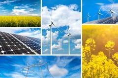 Concetto di energia rinnovabile e delle risorse sostenibili Fotografia Stock
