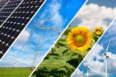 Concetto di energia rinnovabile e delle risorse sostenibili Immagini Stock